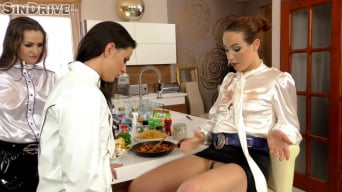 Athina in 'Feast Of Freaks! Pervy Lesbos Dine On The Fine Flavors Of Pussy And Ass! Don't Mess With My Biz!'