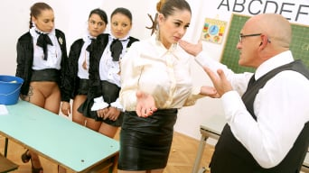 Cathy Heaven in 'The Pussy Academy Part 2 - When The Principal Fucks Teacher's Ass, Students Get Freaky and The Auditor Nuts'