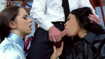 Kira Queen in 'Office Deep Throat and Business Gagging: Wanna-Be Secretaries Drooling On Their Finest Blouses 4 The Job'