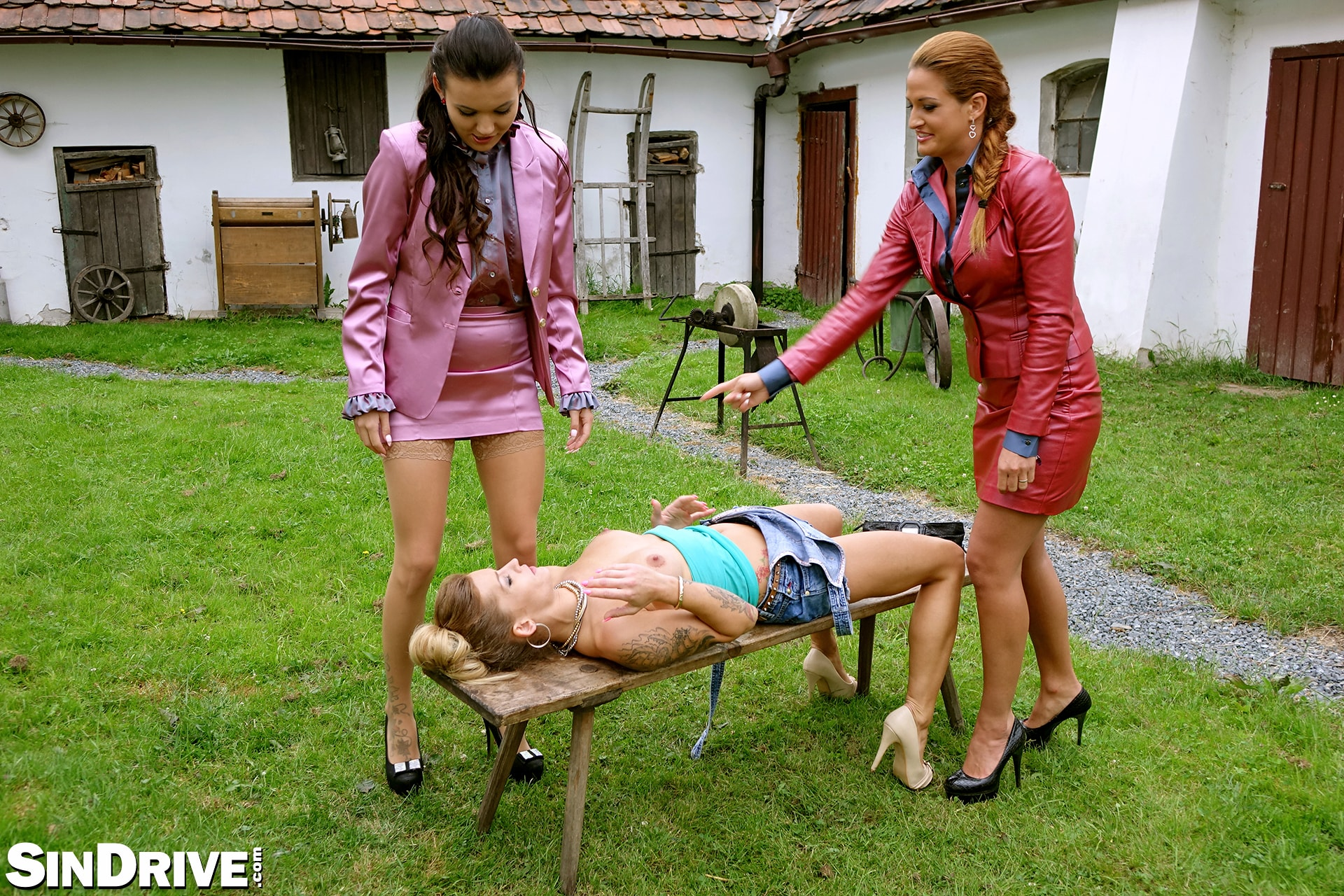 Sindrive 'Bitch Better Lick My Pussy! 2 Lady Bosses Get Their Piss Freak On and A Casual Chick Is In Danger :-)' starring Nicole Vice (Photo 1)