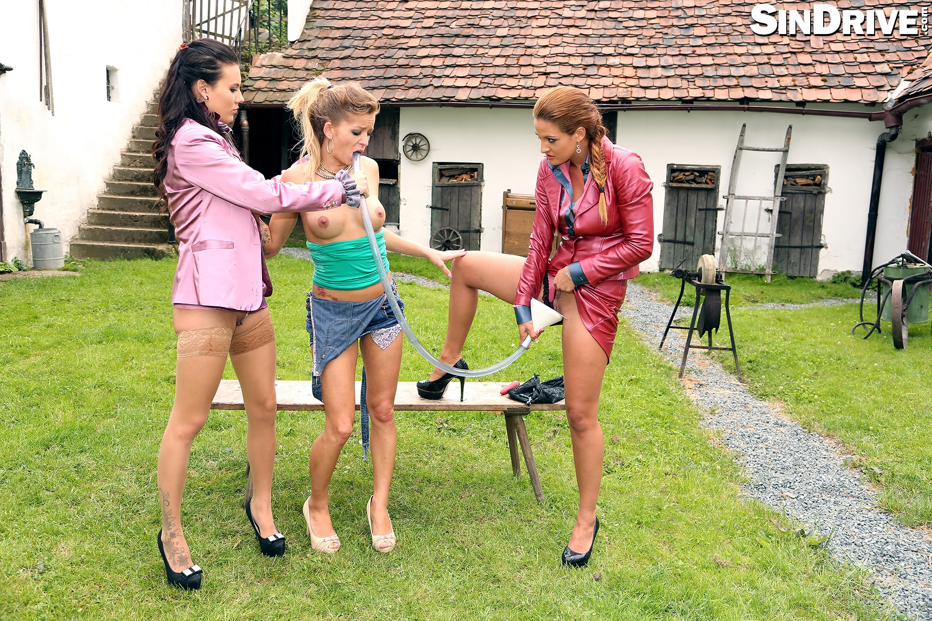 Sindrive 'Bitch Better Lick My Pussy! 2 Lady Bosses Get Their Piss Freak On and A Casual Chick Is In Danger :-)' starring Nicole Vice (Photo 48)